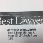 Levy Vinick Burrell Hyams Recognized as one of Best Law Firms in Northern California