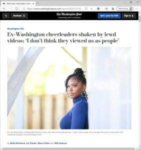 Screenshot of a news article